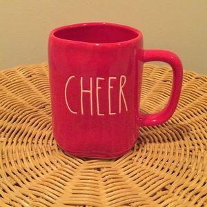 """Rae Dunn """"Cheer"""" ceramic mug."""